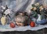 Still life / 44.5 x 72 cm,  Tempera and pastel on paper