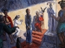 Christ before Herod / 126.5 x 180 cm,  Acrylic on canvas